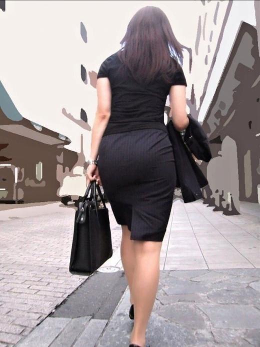 img 5fbe74408198a - 巨尻OLさんがぴっちぴちのタイトスカートを履いたらこうなる